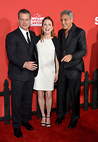 Matt Damon, Julianne Moore &amp; George Clooney at the premiere for &quot;Suburbicon&quot; at the Regency Village Theatre, Westwood. Los Angeles, USA 22 October  2017<br /> Picture: Paul Smith/Featureflash/SilverHub 0208 004 5359 sales@silverhubmedia.com