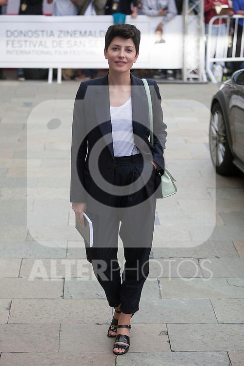 Actress Barbara Lennie arrives to Maria Cristina hotel during 63rd Donostia Zinemaldia (San Sebastian International Film Festival) in San Sebastian, Spain. September 21, 2015. (ALTERPHOTOS/Victor Blanco)
