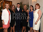 Joanne O'Dwyer, Cian O'Dwyer, Mandy Furey, Therese McDonnell, Isabel Corrigan, and Karen Babington at the Red Door Project dinner dance in the Westcourt hotel. Photo:Colin Bell/pressphotos.ie
