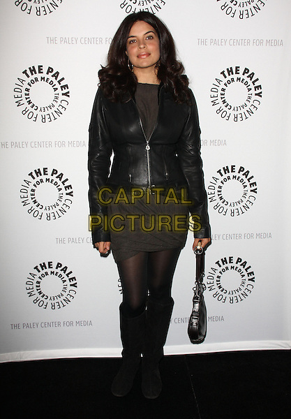 ZULEIHKA ROBINSON .27th Annual PaleyFest Presents the television show 'Lost' held At The Saban Theatre, Beverly Hills, California, USA, 27th February 2010..arrivals full length jacket brown dress knee high boots bag tights black leather .CAP/ADM/KB.©Kevan Brooks/Admedia/Capital Pictures