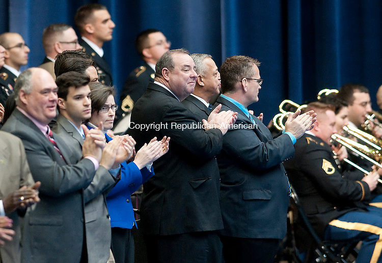 HARTFORD,  CT-010715JS05- Waterbury Mayor Neil M. O'Leary was on hand for the Gubernatorial Inauguration Ceremony Wednesday at the State Armory in Hartford. <br />  Jim Shannon Republican-American