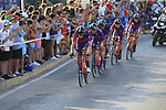 Burgoa-BH in action during Stage 1 of La Vuelta 2019, a team time trial running 13.4km from Salinas de Torrevieja to Torrevieja, Spain. 24th August 2019.<br /> Picture: Eoin Clarke | Cyclefile<br /> <br /> All photos usage must carry mandatory copyright credit (© Cyclefile | Eoin Clarke)