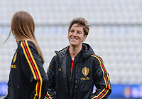 20180410 - FERRARA , ITALY : Belgian Aline Zeler pictured during the female soccer game between Italy and the Belgian Red Flames , the fifth game in the qualificaton for the World Championship qualification round in group 6 for France 2019, Tuesday 10 th April 2018 at Stadio Paolo Mazza / Stadio Comunale in Ferrara , Italy . PHOTO SPORTPIX.BE | DAVID CATRY