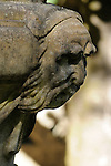 A detail of a statue in the estate gardens of Quinta da Regaleria in Sintra, Portugal.