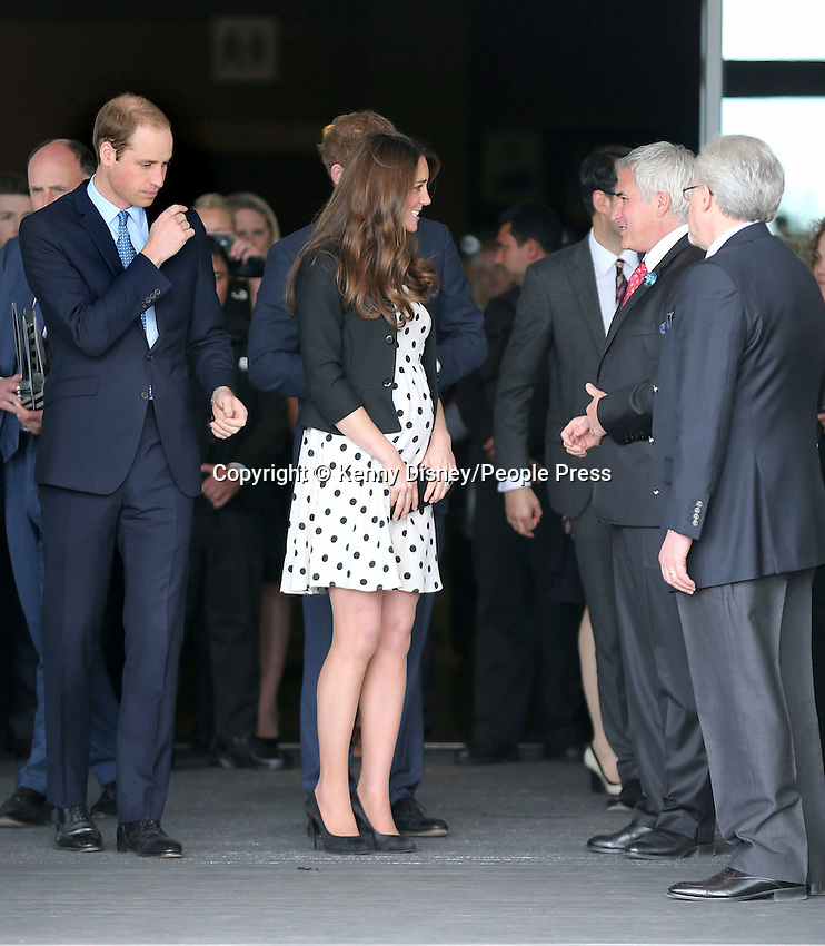 Prince William, Duke of Cambridge, the Duchess of Cambridge and Prince Harry visit Leavesden Studios, home of the 'Harry Potter Studio Tour', as part of the Inauguration of the Warner Bros Studios, Leavesden, Hertfordshire, UK- April 26th 2013..Photo by Kenny Disney.