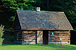 Replica of President Millard Fillmore's boyhood home, Fillmore Glen State Park, Moravia, New York, USA