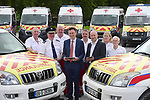 4-9-2018: An initiative which will result in the digital makeover of the Irish Red Cross ambulance fleet across Limerick city and county was launched today by Minister Patrick O'Donovan in Newcastle West. The project will see ambulances being kitted out with smart devices to capture key data replacing cumbersome and time-consuming reports by pen and paper which will dramatically improve efficiency around such critical tasks as ambulatory-care reports, patient-care reports, lifesaving equipment checks and daily fleet management and allow more emergency care and services will be delivered to the Irish public here at home, therefore helping the Irish Red Cross save more lives. Online lottery company Lottoland chose to support an Irish Red Cross initiative because of the variety of this charity's humanitarian projects both at home and abroad. Nationwide, the digital makeover will have a very positive impact on the 2,000 Irish Red Cross uniformed members who voluntarily give of the time and medical expertise to provide first aid cover around the country every week. The project launched today will see all traditional paper-based administration for the charity's entire fleet nationwide of 130 emergency ambulances digitised, saving each ambulance crew 1.5 hours per day, which equates to 40,560 personnel hours per year. In Limerick alone, the Irish Red Cross ambulance personnel will save 2,807 hours per year which is very significant time saving, allowing the operators concentrate on other important aspects of their day-to-day humanitarian operations. Pictured at the launch were Minister of State Patrick O'Donovan pictured with Tony Lawlor, National Director of Units, Irish Red Cross, Graham Ross, Country Manager, Lottoland.ie and County Limerick ambulance drivers, Peter O'Shea, John Campbell, Gerard Doody, Gina O'Dwyer and Tommy Gray.<br /> Photo: Don MacMonagle<br /> <br /> pr photo PHOTO:<br /> FURTHER INFO: Brian Purcell Big Picture Communications<br /> Tel - +353 87 9678921