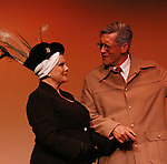 "Charlie King ""Cecil B. DeMille"" and One Life To Live and Guiding Light Kim Zimmer stars as ""Norma Desmond"" in Sunset Boulevard for several weeks in August at the Barn Theatre in Augusta, Michigan. The photos are from the dress rehearsal. (Photo by Sue Coflin/Max Photos)"
