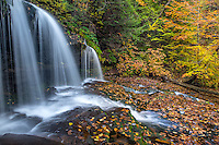 Ricketts Glen State Park, PA: Mohawk Falls on Kitchen Creek in autumn