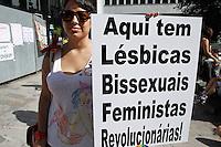 SAO PAULO, SP, 03.05.2014 -Caminhada das Lesbicas, Bissexuais, Feministas que acontece na tarde deste sabado (03) na Avenida Paulista em São Paulo. (Foto: Amauri Nehn / Brazil Proto Press).