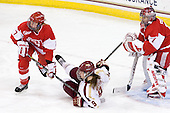 Shannon Stoneburgh (BU - 7), Taylor Wasylk (BC - 9), Kerrin Sperry (BU - 1) - The Boston College Eagles tied the visiting Boston University Terriers 5-5 on Saturday, November 3, 2012, at Kelley Rink in Conte Forum in Chestnut Hill, Massachusetts.