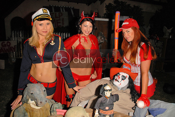 Alana Curry, Jamie Carson and Lisa Cash<br /> preparing for the annual Halloween Bash at the Playboy Mansion, Private Location, Los Angeles, CA. 10-24-09<br /> David Edwards/DailyCeleb.com 818-249-4998