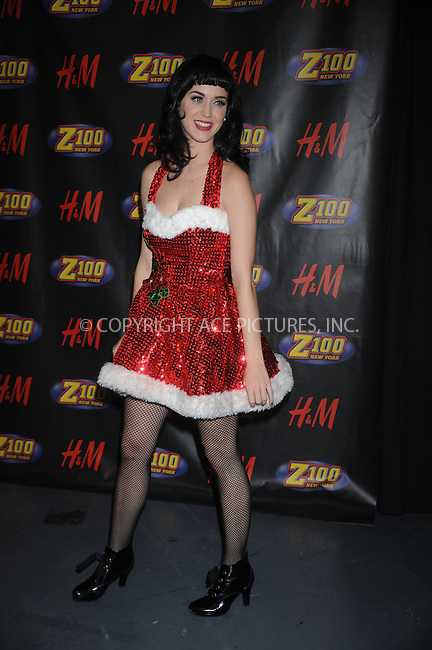 WWW.ACEPIXS.COM . . . . . ....December 12 2008, New York City....Singer Katy Perry in the press room at Z100's Jingle Ball at Madison Square Garden on December 12, 2008 in New York City.....Please byline: KRISTIN CALLAHAN - ACEPIXS.COM.. . . . . . ..Ace Pictures, Inc:  ..tel: (212) 243 8787 or (646) 769 0430..e-mail: info@acepixs.com..web: http://www.acepixs.com