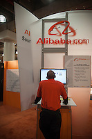 Alibaba.com booth at the 110th American International Toy Fair in the Jacob Javits Convention center in New York on Monday, February 11, 2013.  Alababa is a business to business website. (© Richard B. Levine)