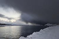 Isole Lofoten nella foto fiordo geografico Svolv&aelig;r 15/02/2016 foto Matteo Biatta<br /> <br /> Lofoten Islands in the picture fiord geographic Svolv&aelig;r 15/02/2016 photo by Matteo Biatta