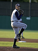 August 24, 2004:  Brandon Mann of the Hudson Valley Renegades, NY-Penn League (Short Season Single-A) affiliate of the Tampa Bay Devil Rays during a game at Dwyer Stadium in Batavia, NY.  Photo by:  Mike Janes/Four Seam Images
