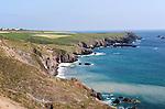 Coastal scenery erosive coast headland, Lizard Point, Lizard peninsula, Cornwall, England, UK