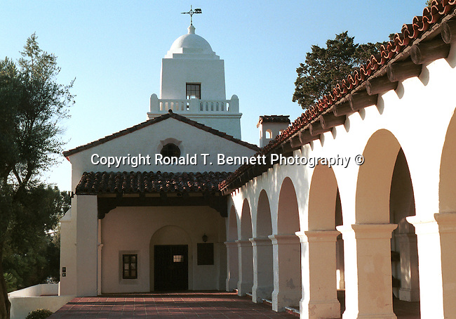 Presidio Park the Juniper Serra Museum with lots of greenery, named after the Franciscan friar who led the religious portion of the expedition to California, California Fine Art Photography by Ron Bennett,
