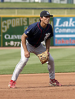 June 7, 2004:  Omar Bramasco of the Lakewood Blueclaws, Low-A South Atlantic League affiliate of the Philadelphia Phillies, during a game at Classic Park in Eastlake, OH.  Photo by:  Mike Janes/Four Seam Images