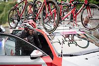 Jelle Vanendert (BEL/Lotto-Soudal) abandons in a super rainy stage 5<br /> <br /> Stage 5: Frascati to Terracina (140km)<br /> 102nd Giro d'Italia 2019<br /> <br /> ©kramon