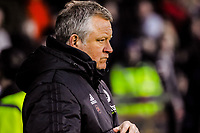 Sheffield United's manager Chris Wilder during the Sky Bet Championship match between Sheff United and Cardiff City at Bramall Lane, Sheffield, England on 2 April 2018. Photo by Stephen Buckley / PRiME Media Images.