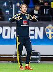 Solna 2015-10-12 Fotboll EM-kval , Sverige - Moldavien :  <br /> Sveriges Albin Ekdal p&aring; uppv&auml;rmningen inf&ouml;r matchen mellan Sverige och Moldavien <br /> (Photo: Kenta J&ouml;nsson) Keywords:  Sweden Sverige Solna Stockholm Friends Arena EM Kval EM-kval UEFA Euro European 2016 Qualifying Group Grupp G Moldavien Moldova portr&auml;tt portrait