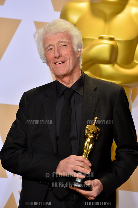 Roger A. Deakins at the 90th Academy Awards Awards at the Dolby Theartre, Hollywood, USA 04 March 2018<br /> Picture: Paul Smith/Featureflash/SilverHub 0208 004 5359 sales@silverhubmedia.com
