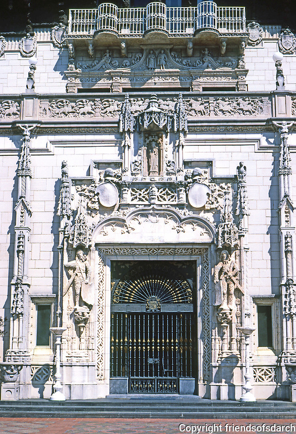 Hearst Castle: La Casa Grande--Entrance. Photo '86.