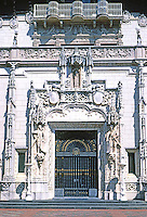 Hearst Castle: La Casa Grande--Entrance. Photo '86.
