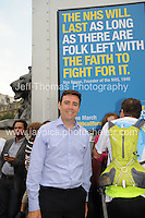 Peoples March for the NHS - Central London, Saturday 6th Sept 2014 - <br /> <br /> Shadow cabinet Health Minister Andy Burnham<br /> <br /> <br /> <br /> <br /> Photographer: Jeff Thomas - Jeff Thomas Photography - 07837 386244/07837 216676 - www.jaypics.photoshelter.com - swansea1001@hotmail.co.uk