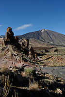 Mount Teide,with finger of God in the foreground, Canadas national Park Tenerife, Canary Islands