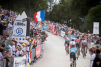 up the gravel section in the final stretch to the finish line up La Planche des Belles Filles<br /> <br /> Stage 6: Mulhouse to La Planche des Belles Filles (157km)<br /> 106th Tour de France 2019 (2.UWT)<br /> <br /> ©kramon