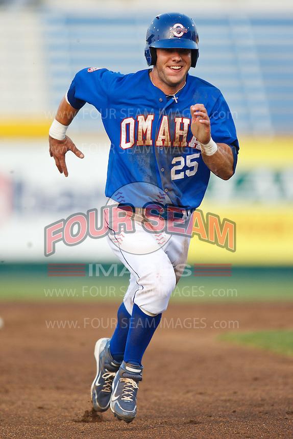 July 2nd, 2010 Alex Gordon (25) in action during MiLB play between the Iowa Cubs and the Omaha Royals. Iowa Cubs won 5-3 at Rosenblatt Stadium, Omaha Nebraska.