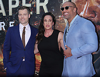 NEW YORK, NY July 10, 2018 Rawson Marshal Thurber, Dany Garcia, Dwayne Johnson attend Legendary &amp; Universal Picture present the premiere of Skyscraper   at the AMC Loews Lincoln Square 13 in New York. July 10, 2018 <br /> CAP/MPI/RW<br /> &copy;RW/MPI/Capital Pictures