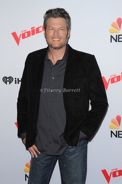 Blake Shelton arriving NBC's The Voice Season 8 Red Carpet Event held at the Pacific Design Center Los Angeles CA. April 23, 2015