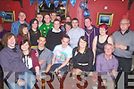 Anthony Coffey seated front centre from Marrion PLaace, Cahersiveen celebrated his 21st birthday with family and friends at the Fertha Bar Cahersiveen on Saturday night.