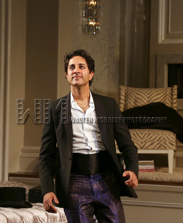 Maulik Pancholy during the re-opening night Curtain Call for 'It's Only A Play' at the Bernard B. Jacobs Theatre on January 23, 2014 in New York City.