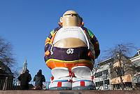 Nederland  Den Haag   2017. Op de Grote Markt in Den haag staat een standbeeld van stripfiguur Haagse Harry.  Haagse Harry is bedacht door tekenaar Marnix Rueb, die in 2014 overleed. Foto  Berlinda van Dam / Hollandse Hoogte
