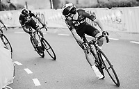Michal Kwiatkowski (POL/SKY) powering up and checking to see Philippe Gilbert (BEL/Quick Step floors) picking on before racing together towards the finish<br /> <br /> 52nd Amstel Gold Race (1.UWT)<br /> 1 Day Race: Maastricht &rsaquo; Berg en Terblijt (264km)