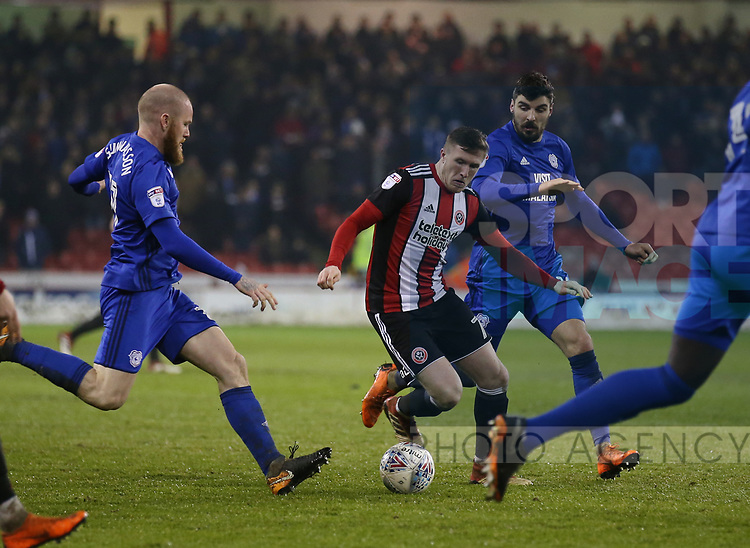 John Lundstram of Sheffield Utd  during the Championship match at Bramall Lane Stadium, Sheffield. Picture date 02nd April, 2018. Picture credit should read: Simon Bellis/Sportimage
