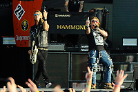 DERBY, ENGLAND - JUNE 9: Duff McKagan and Axl Rose of 'Guns N' Roses' performing at Download Festival, Donington Park on June 9, 2018 in Derby<br /> CAP/MAR<br /> &copy;MAR/Capital Pictures