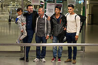 Syrian Refugee Osama Abdul Mohosen arriving at Atocha Station.