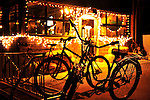 Townie cruiser bikes are the main transportation of the locals. This bike rack is located outside the Boathouse Cantina. Michael Brands for The New York Times.