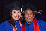 Students gather backstage Saturday, June 10, 2017, before the DePaul University School for New Learning commencement ceremony at the Rosemont Theatre in Rosemont, IL. (DePaul University/Jeff Carrion)