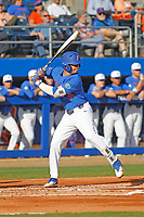 University of Florida Gators 3rd baseman Jonathan India (^) during a game against the Siena Saints at Alfred A. McKethan Stadium in Gainesville, Florida on February 17, 2018. Florida defeated Siena 10-2. (Robert Gurganus/Four Seam Images)