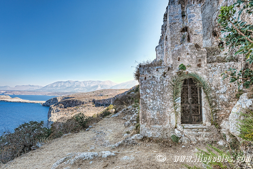 The church of Panagia Agitria (Odigitria) in Mani, Greece