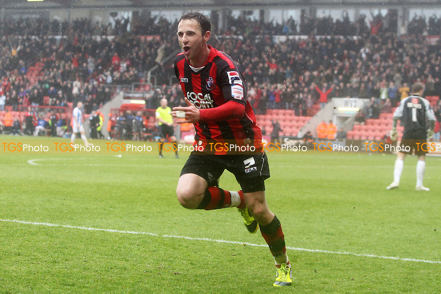 Marc Pugh celebrates after scoring bournemouth second goal - AFC Bournemouth vs Huddersfield Town - nPower League One Football at Dean Court - 09/04/11 - MANDATORY CREDIT: Chris Royle/TGSPHOTO - Self billing applies where appropriate - 0845 094 6026 - contact@tgsphoto.co.uk - NO UNPAID USE..