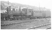 Fireman's side view of RGS 2-8-0 #40 in Dolores yard.<br /> RGS  Dolores, CO  Taken by Kindig, Richard H. - 8/5/1940