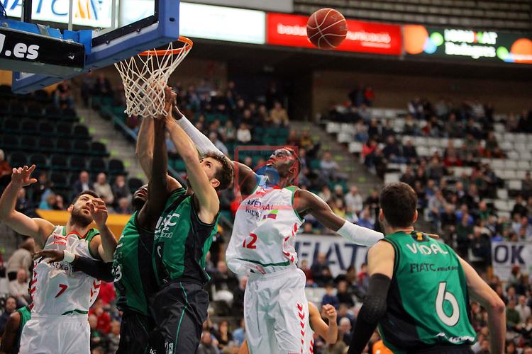 League ACB-Endesa 2015-2016. Game: 16.<br /> FIATC Joventut vs Laboral Kutxa Baskonia: 68-89.<br /> Shengelia, Drame, Llovet, Diop &amp; Vidal.