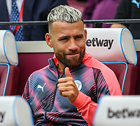 Sergio Aguero of Manchester City ahead of the Premier League match between West Ham United and Manchester City at the London Stadium, London, England on 10 August 2019. Photo by David Horn.